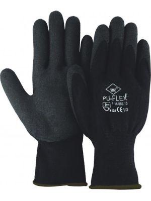 Pu-flex handschoen maat l nr: 1.14.086.09 bruin randje