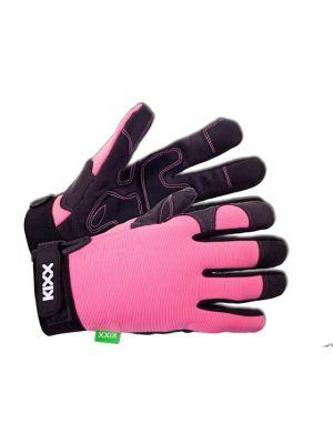 Kixx Handschoen Rocky maat 8 Roze/Zwart