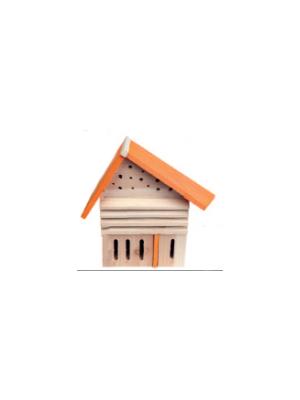 Buzzy birds insectenkast scheef dak oranje