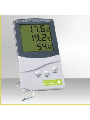 Garden Highpro Thermo / Hygrometer digitaal met externe voeler