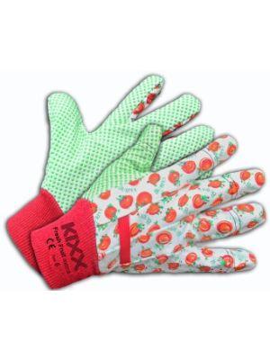 Kixx handschoen fresh fruit maat 8 rood/wit