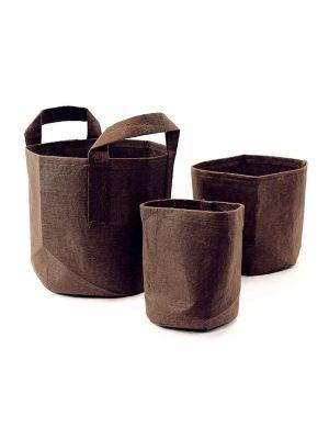 Root pouch boxer brown met handvat 16 ltr