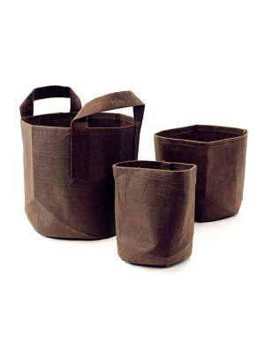 Root Pouch Boxer Brown 8 ltr  Ø 21 x 21 (met handvat)